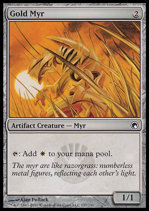 Gold Myr, Scars of Mirrodin