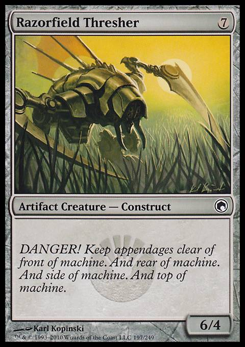 Razorfield Thresher, Scars of Mirrodin