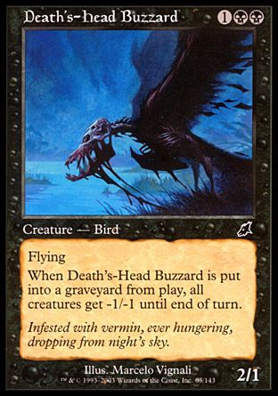Death's-Head Buzzard, Scourge