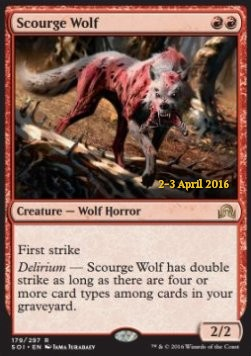 Scourge Wolf, Shadows over Innistrad Promos