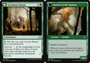 Autumnal Gloom / Ancient of the Equinox, Shadows over Innistrad