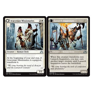 Avacynian Missionaries / Lunarch Inquisitors, Shadows over Innistrad