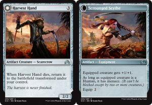 Harvest Hand / Scrounged Scythe, Shadows over Innistrad