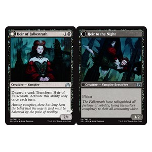 Heir of Falkenrath / Heir to the Night, Shadows over Innistrad