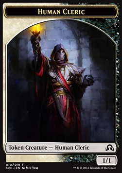 Human Cleric Token, Shadows over Innistrad