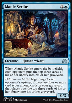 Manic Scribe, Shadows over Innistrad