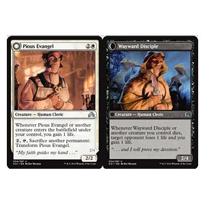 Pious Evangel / Wayward Disciple, Shadows over Innistrad