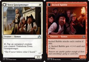 Town Gossipmonger / Incited Rabble, Shadows over Innistrad
