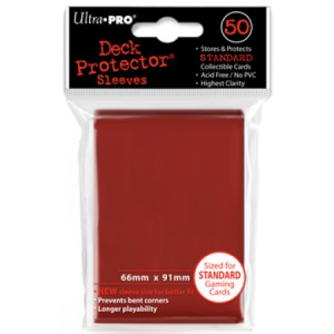 50 Ultra Pro Deck Protector Sleeves (Red), Sleeves