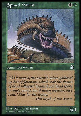 Spined Wurm, Stronghold