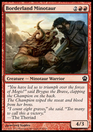 Borderland Minotaur, Theros