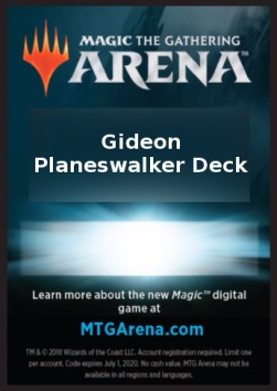 Arena Code Card (Planeswalker Deck), War of the Spark Extras